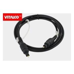 Przewód optyczny T-T plastik 1,5m blister OP15 Vitalco