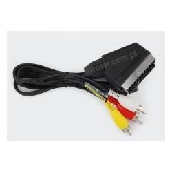 Przyłącze SCART / 3*wtyk RCA 1,5m CCA