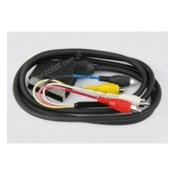 Przyłącze SCART / 4*wtyk RCA 1,5m CCA