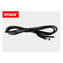 Wtyk DC 2.1/5.5 z przewodem 1,5m DCK40 Vitalco