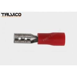 Konektor izol. 2.8*0.8 Ż czerwony RoHS