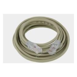 Patch cord Cu UTP 5,0m krosowany szary