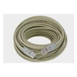 Patch cord Cu UTP.10m krosowany szary