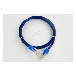 Patch cord UTP CCA 0,5m niebieski