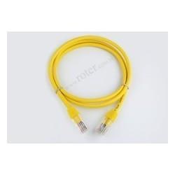 Patch cord UTP CCA 0,5m żółty