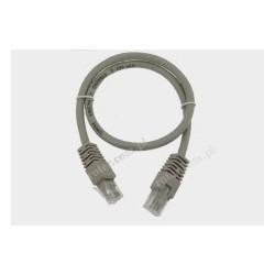 Patch cord UTP kat.6 1,0m szary