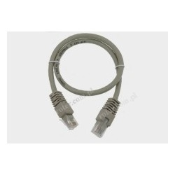 Patch cord UTP kat.6 5,0m szary