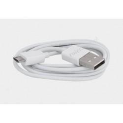 Przyłącze USB-mikro USB 1m białe