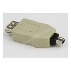 Adapter gniazdo USB A / wtyk DV 4p