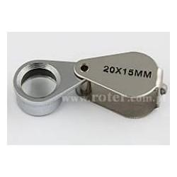 Lupa składana metal 15mm 20x