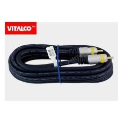 Przyłącze 1*wtyk RCA / 1*wtyk RCA RKD100 digital 3,0m blister Vitalco