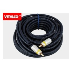Przyłącze 1*wtyk RCA / 1*wtyk RCA RKD100 digital 5,0m blister Vitalco