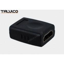 Adapter HDMI gniazdo / HDMI gniazdo, perłowy