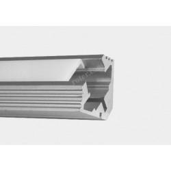Profil LED TC-LS044 19mm/16mm/1m / klosz, 2 x uchwyt, 2 x zaślepka