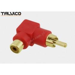 Adapter wtyk RCA/gn.RCA katowy złoty czerwony Talvico