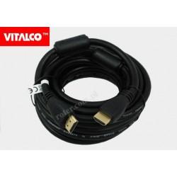Przyłącze HDMI V1.4 czarne 6,0m HDK48 Vitalco