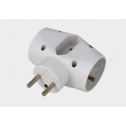 Rozg. elektryczny 1*2o+płaskie 16A Eco