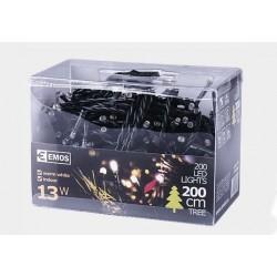 Lampki choinkowe 200 LED 10m IP20 (białe ciepłe)