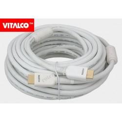 Przyłącze HDMI V1.4 Vitalco HDK31 złote, białe.13m
