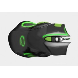 Mysz Esperanza dla graczy 7D Hawk czarno-zielona EGM401KG