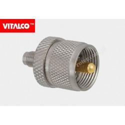 Adapter gniazdo SMA / wtyk UHF Vitalco