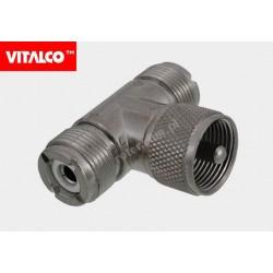 Adapter wtyk UHF / 2*gniazdo UHF Vitalco EU38