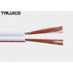 Przewód głośnikowy 2*0.35 biały z paskiem (szpula) Talvico Tg-231