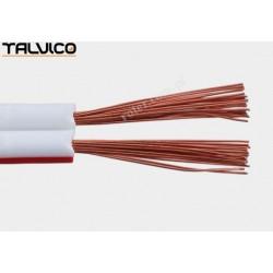 Przewód głośnikowy 2*0.75 CCA biały z paskiem Talvico Tg-241
