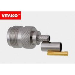 Gniazdo N na kabel RG58 zaciskane Vitalco EN16