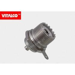 Gniazdo UHF do obudowy okr. lutowane Vitalco EU285