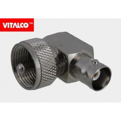 Adapter wtyk UHF/gniazdo BNC kątowy Vitalco EU41
