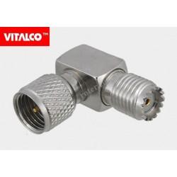 Adapter wtyk mini UHF/gniazdo mini UHF kątowy EU577 Vitalco