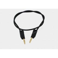 Przewód pomiarowy 2xwtyk banan 2mm czarny PVC 0,35mm 10A