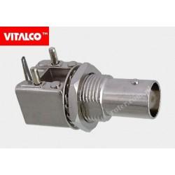 Gniazdo BNC do druku kątowe metal Vitalco BNG72