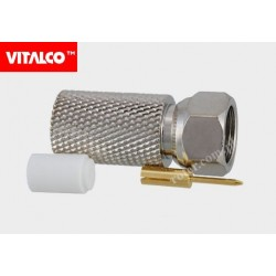 Wtyk F na kabel RG11 nakręcany Vitalco FW52