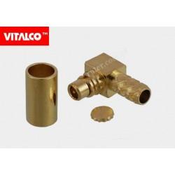 Wtyk MMCX na kabel RG 174 kątowy złoty Vitalco EM50