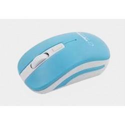 Mysz bezp. URANUS niebiesko-biała EM126WB