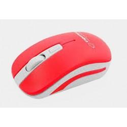 Mysz bezp. URANUS biało-czerwona EM126WR