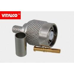 Wtyk RTNC na kabel RG58 zaciskany Vitalco ET10
