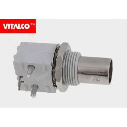 Gniazdo BNC do druku kątowe plastik Vitalco BNG70