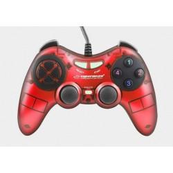 Gamepad Esperanza Fighter USB czerwony