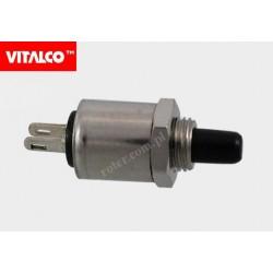 Przeł. przyciskowy okr. metal 5428 off-(on) PR017 czarny Vitalco