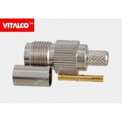 Gniazdo TNC na kabel 58U zaciskane Vitalco ET40