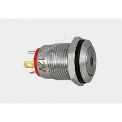 Przeł. okrągły 12mm z podśw. LED 12V/5A off-(on) 12SFD-2J czerwony IP67