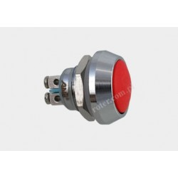 Przeł. okrągły 12mm 250V/2A off-(on) 12NB czerwony IP67