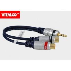 Adapter wt.3,5 st.-2*gn. RCA digital Vitalco