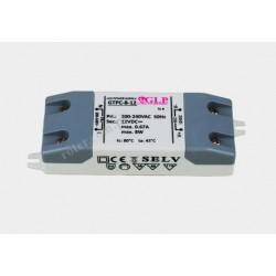 Zasilacz napięciowy LED 8W 12V 0,67A ultra cienki