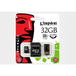 Karta pamięci mikroSD Kingston 32GB+adapter+czytnik