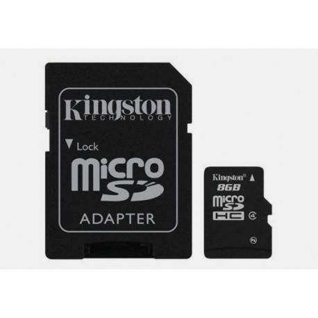 Karta pamięci mikroSD(HC) Kingston 8GB z adapterem