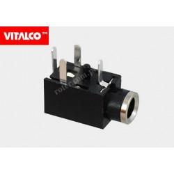 Gniazdo 2,5 stereo montażowe plastik Vitalco J010